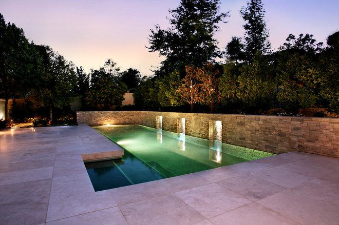 Modern Pool by AMS Landscape Design Studios, Inc.