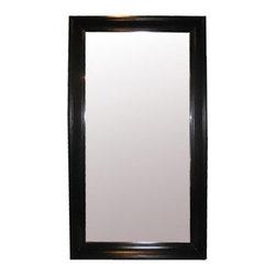 NOIR - NOIR Furniture - Colonial Large Floor Mirror - GMIR103, Black - Features: