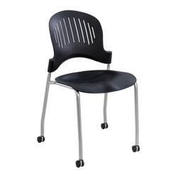 Safco - Safco Zippi Plastic Stack Chairs - Black (Set of 2) - 3385BL - Shop for Chairs from Hayneedle.com! About Safco ProductsSafco products were specifically developed to meet the changing needs of the business world offering real design without great expense. Each product is designed to fit the needs of individuals and the way they work by enhancing comfort and meeting the modern needs of organization in the workplace. These products encourage work-area efficiency and ultimately work-life efficiency: from schools and universities to hospitals and clinics from small offices and businesses to corporations and large institutions airports restaurants and malls. Safco continues to offer new colors new styles and new solutions according to market trends and the ever-changing needs of business life.