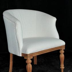 Lison Art Furniture - B009-A / Tub Chair Style - Flute Leg