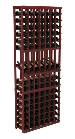 Wine Racks America - 7 Column Display Row Wine Cellar Kit in Redwood, Cherry - Display rows allow presentation of favored and coveted labels. Your best vintages will greet onlookers in style. All the edges of our products are softened to ensure you won't get nicks or splinters, like you will from budget brands. You'll be satisfied. We guarantee it.