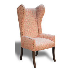 "OCCASSIONAL WINGBACK CHAIR MARGO - A light-handed approach to the traditional wingback, Peninsula Home's ""Margo"" took center stage at the summer markets in the palette of the season. Weather used as occasional or dining ends, the ""Margo"" is a statement piece for any décor."