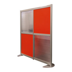 "LOFTwall - LOFTwall Low Height Room Partition LW41LH - The LOFTwall Low Height Room Partition is 53"" tall and two panels wide. Perfect for office privacy, this room divider is available in a variety of mix-and-match panel colors. Made from aluminum, with 12"" feet for stability."