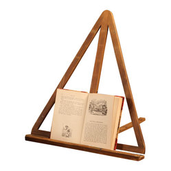 BoBo's Intriguing Objects - Triangle Book Stand - Remember books — the kind with actual pages? If you have a fondness for print on paper, put it on display with this easel and make literature part of your decor. Addicted to your e-reader? Use the stand for a piece of artwork.