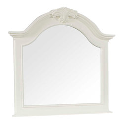 Broyhill - Broyhill Mirren Harbor Arched Dresser Mirror in White - Broyhill - Mirrors - 4024236 - About This Product: