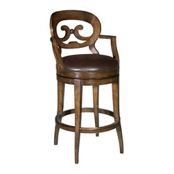 EuroLux Home - New Swivel Bar Stool Barstool Cocoa - Product Details