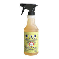 Mrs. Meyer's Lemon Verbena Countertop Spray - Mrs. Meyer's Clean Day Lemon Verbena Countertop Spray takes the basic formula of the All Purpose Cleaner and adds a special Vegetable Protein Extract, a naturally fresh way to remove odors. It cleans, degreases and removes odors from the kitchen, bathroom or any room, a naturally fresh way to clean surfaces. 16 fl oz.