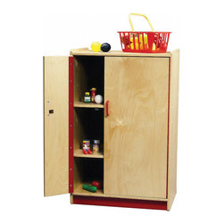 "Whitneybrothers - Whitney Brothers Preschool Kids Pretend Play Kitchen Toy Refrigerator Cabinet - Solid, sturdy, stylish birch preschool refrigerator with safe continuous hinges that wont pinch little fingers.  Ideal for children aged 2 to 5 years old.Dimension: 24"" wide x37"" high x16"" deep.Weight: 60 lbs. FEDExor UPS Ground. GreenGuard Certified. Made in USA. Lifetime Warranty."