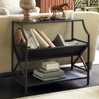 Bookshelf - The perfect size to tuck behind a sofa, against a wall or in a study, this bookshelf will position your books at an angle making their title easy to read.  Use in a kitchen to store cook books on the top shelf and cookware or serving dishes on the lower shelf.