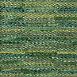 STRIPE - JADE - Item #1009842-125. 100% Post Cons Rcld Polyester. Eco 100% Sustainable. Earth-Friendly. Durability: 50,000  Cotton Duck Double Rubs, PASSES UFAC CLASS 2, PASSES CA 117. Made in CANADA.