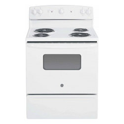 "GE - JBS10DFWW 30"" 5.0 cu. ft. Oven Capacity Free-Standing Electric Range  Backsplash - A GE electric range will meet all your cooking needs for years to come from warming a simple pan of soup for one person to handling a large dinner party or holiday meal for the whole family Plus your stove will look great in your kitchen and clean up..."