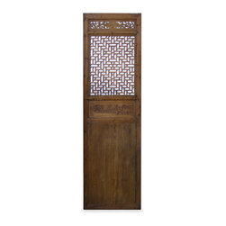 China Furniture and Arts - Antique Door Panel - Our hand carved intaglio hardwood window panel will no doubt supply its own special intrigue, whatever surface it decorates. It was once used in a traditional village house in the Zhe Jiang Province, China. Some are nearly 80-100 years old. Sizes are approximate. Please let us select for you. A metal hanger is included.