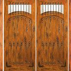 "Entry Prehung Double Door with Two Sidelites, Knotty Alder - SKU#SW-64-53_2-2BrandAAWDoor TypeExteriorManufacturer CollectionWestern-Santa Fe Entry DoorsDoor ModelDoor MaterialWoodWoodgrainKnotty AlderVeneerPrice3982.4Door Size Options2(30"")+2(18"") x 80"" (8'-0"" x 6'-8"")  $02(32"")+2(18"") x 80"" (8'-4"" x 6'-8"")  $02(36"")+2(18"") x 80"" (9'-0"" x 6'-8"")  +$402(42"")+2(18"") x 80"" (10'-0"" x 6'-8"")  +$2402(30"")+2(18"") x 96"" (8'-0"" x 8'-0"")  +$914.42(32"")+2(18"") x 96"" (8'-4"" x 8'-0"")  +$914.42(36"")+2(18"") x 96"" (9'-0"" x 8'-0"")  +$954.42(42"")+2(18"") x 96"" (10'-0"" x 8'-0"")  +$1354.4Core TypeSolidDoor StyleRusticDoor Lite StyleCamber LiteDoor Panel StyleHome Style MatchingSouthwest , Log , Pueblo , WesternDoor ConstructionTrue Stile and RailPrehanging OptionsPrehungPrehung ConfigurationDouble Door with Two SidelitesDoor Thickness (Inches)1.75Glass Thickness (Inches)1/4Glass TypeSingle GlazedGlass CamingGlass FeaturesGlass StyleGlass TextureClearGlass ObscurityDoor FeaturesDoor ApprovalsDoor FinishesDoor AccessoriesClavosWeight (lbs)1190Crating Size25"" (w)x 108"" (l)x 52"" (h)Lead TimeSlab Doors: 7 daysPrehung:14 daysPrefinished, PreHung:21 daysWarranty1 Year Limited Manufacturer WarrantyHere you can download warranty PDF document."