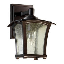 Quorum International - Quorum International 7510-6 1 Light Down Lighting Outdoor Wall Sconce from the G - Transitional 1 Light Down Lighting Outdoor Wall Sconce from the Gable CollectionClear seeded glass takes center stage with this gorgeous one light outdoor wall sconce from the Gable collection. Featuring graceful arches and a bright 60 watt bulb, this fixture is the perfect way to add functionality without sacrificing style. A bright, 60 watt bulb provides plenty of light while a UL listing for wet locations ensures that this fixture will stand the test of time.Features: