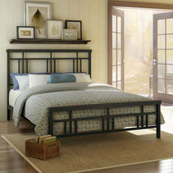 None - Amisco Cottage Full Size Metal Headboard & Footboard 54 inch - Reminiscent of the craftsmanship of days gone by,this elegant bed features a high headboard and low footboard with detailed design. The lovely Cottage bed will surely be a welcome sight at the end of the day.