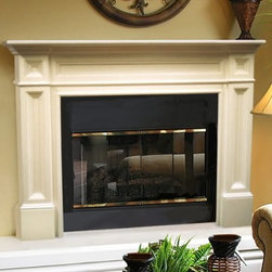 Pearl Mantels Classique Wood Fireplace Mantel Surround - The timeless style of the Pearl Mantels Classique Wood Fireplace Mantel Surround offers a level of elegance and beauty to your living room that will make it the focal point of any decor. Hand-crafted of lightly colored natural tight-grained Asian hardwoods and veneer, with a tight wood grain much like American White Oak, this fireplace mantel is a breeze to paint or stain so you can easily customize the look. This Classique Fireplace Mantel is available with a 50 inch or 56 inch interior width. Mantel Surround Dimensions 50 -in. 56 -in. A. Shelf length 73.5 in. 79.5 in. B. Interior width 50 in. 56 in. C. Interior height 42 in. 42 in. D. Width to outside leg at base 71.25 in. 77.25 in. E. Overall height 56 in. 56 in. F. Shelf depth 8 in. 8 in. G. Leg Depth 4.375 in. 4.375 in. About the Pearl InlayPearl Mantels now include a discrete, authentic pearl-style inlay on each of their pieces. Your Pearl Mantel may or may not include this feature, depending on purchase date. Please contact our Customer Care Center with any questions. About Pearl Mantels Inc.Pearl Mantels Inc. founder Jim Pearl believes in basing his business on honest value, quality products, and personal service - he even calls clients himself to evaluate their needs and develop leading-edge solutions. Pearl also believes mantels are the emotional core of rooms, representing heritage and tradition and displaying precious heirlooms. Each Pearl mantel - made from natural tight-grained Asian hardwoods and veneer - boasts exclusive detail and classic design, all at an affordable price. A variety of available finishes ensures Pearl Mantels Inc. indeed has a mantel for every hearth. Wood and MDF are combustible. Please review heat clearance specifications before installation. Consult your local building codes and manufacturer information regarding your specific insert or stove.