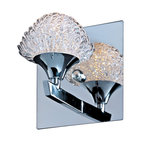 "ET2 Blossom 6"" Wide Chrome and Crystal Wall Sconce"