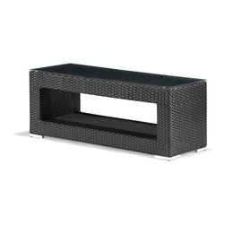 Zuo Modern - Zuo Algarve Coffee Table in Espresso - Coffee Table in Espresso belongs to Algarve Collection by Zuo Modern Created with strong lines and sharp edges the Algarve series bring the complete package for all your entertaining needs. The body is made up of a synthetic weave that is UV resistant so it will stand up to any weather. It is re-enforced with an aluminum frame, which will not rust. The cushions are water resistant. The coffee table also comes with a tempered glass. When all the pieces of the collection are in place it will have the impression that you need when entertaining or relaxing. Coffee Table (1)