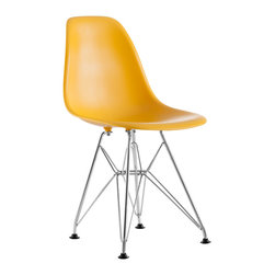 ZUO MODERN - Baby Spire Chair Yellow - Based on Zuo's popular Spire, the Baby Spire chair fits in every child's room in need of modern, classic style. With a light-weight seat made from ABS and chrome steel base, the Baby Spire serves the function and design.