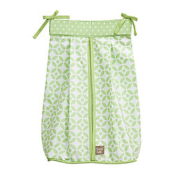 Trend Lab - Trend Lab Diaper Stacker - Lauren - The Trend Lab Diaper Stacker - Lauren measures 12 in x 8 in 20.25 in and holds up to three dozen diapers. Ties allow for easy attachment to most dressers and Changing tables.