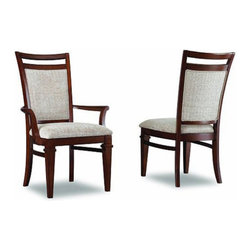 "Hooker Furniture - Hooker Furniture Abbott Place Upholstered Dining Side Chair - Set of 2 Multicolo - Shop for Dining Chairs from Hayneedle.com! Dinner will never be boring again with the Abbott Place Upholstered Dining Side Chair - Set of 2 at your table. The unique and fun design and the durable solid wood and veneer construction mean this beauty will last. The warm cherry finish and hobnail chenille fabric are warm and inviting. In fact you may have a hard time getting people away from the table after you get a set of these babies.Not available for sale in or delivery to the state of California.About Hooker Furniture CorporationFor 83 years Hooker Furniture Corporation has produced high-quality innovative home furnishings that seamlessly combine function and elegance. Today Hooker is one of the nation's premier manufacturers and importers of furniture and seeks to enrich the lives of customers with beautiful trouble-free home furnishings. The Martinsville Virginia based company specializes in lifestyle driven furnishings like entertainment centers home office furniture accent tables and chairs.Construction of Hooker FurnitureHooker Furniture chooses solid woods and select wood veneers over wood frames to construct their high-quality pieces. By using wood veneer pieces can be given a decorative look that can't be achieved with the use of solid wood alone. The veneers add beautiful accents of color and design to the pieces and are placed over engineered wood product for strength. All Hooker wood veneers are made from renewable resources and are located primarily on the flat surfaces of the furniture such as the case tops and sides.Each Hooker furniture piece is finished using up to 30 different steps including 13 steps of hand-sanding and accenting. Physical distressing is done by hand. Pieces receive two to three coats of solid lacquer to create extra depth and add durability to the finish. Each case frame is assembled using strong mortise-and-tenon joints which are then reinforced by mechanical fasteners and glue. On most designs end panels extend to the floor to add strength and stability. Panel-style furniture features strong panel and frame construction to help avoid warping.Your Hooker furniture features finished case interiors to eliminate unsightly ""raw wood"" and to help protect items you may store inside drawers or cabinets. Drawer parts are given a urethane or lacquer finish to create smooth action and durability. All drawers use dovetails either English or French for years of problem-free use. Drawer bottoms are constructed from plywood and attached to the plywood drawer sides via the use of hot glue and/or wood glue blocks. Most drawers are full width depth and height to provide the maximum amount of storage space."