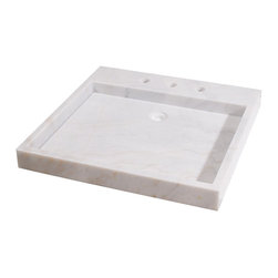 Apollo Marble Vanity Sink, Dove Gray - An alternative to a marble vanity is this marble sink that rests on the countertop. It's a lot less expensive, but you'd need to factor in the cost of the countertop too.