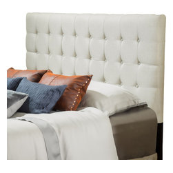 Great Deal Furniture - Lansing King to Cal King Adjustable Brown Tufted Leather Headboard, Natural Fabr - The Lansing headboard is a great piece to add elegance to your bedroom. You can spruce up the look of any king or California king sized bed with this headboard.
