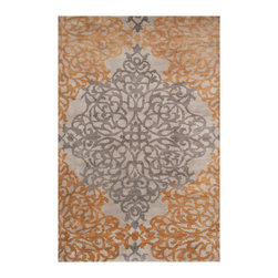 """Surya - Surya Caspian CAS-9914 (Orange) 3'9"""" x 5'9"""" Rug - The Caspian Collection mixes the sophistication of a hand knotted rug with a casual look and feel. Designed with the idea of taking the formality out of a traditional rug, these look great with a variety of decor styles; from casual traditional to rustic lodge. With an amazing price point, these quality Hand Knotted rugs are a great value with style."""