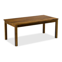 "Vermont Farm Table - Reclaimed Chestnut Square Wood Table, Seats 10 (42"" X 108"") - The original Vermont Farm Table. A versatile dining table with a square-edged apron, square legs, and unlimited customization options. Pull up a chair. 2.75"", 3.5"", or custom size legs."