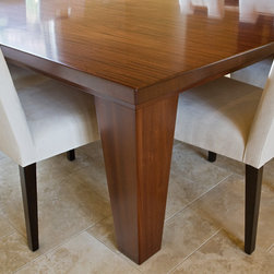 Custom Designed Furniture -- Dining Table 2 - 7 ft square Mahogany Dining Table