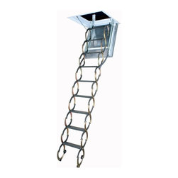 Fakro - LSF 25 x 47 Scissor Fireproof Door Insulated Attic Ladder - LSF 25 x 47 Scissor Fireproof Door Insulated Attic Ladder...