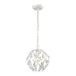 ELK Lighting - ELK Lighting 18123/1 Circeo Antique White Pendant - ELK Lighting 18123/1 Circeo Antique White Pendant