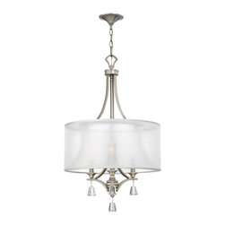 Frederick Ramond - Fredrick Ramond Mime 3-Light Invert Chandelier - This elegant collection in our Brushed Nickel and French Bronze