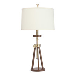 Kichler - Kichler Lighting Trivet 1 Light Table Lamp in Antique Brass 70862AB - Bulbs are included.