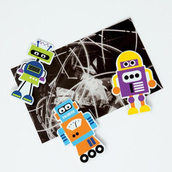 Robot Magnets - These cute and funky magnets are the perfect gift for the tech geek (or non-geek!) that you know! Hang family photos, kids' artwork or even just the latest office memo with our collection of fun and functional magnets.