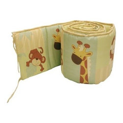 Little Bedding by NoJo Safari Kids Traditional Padded Bumper - Surround and protect your child with a colorful collection of cuddly animals in the Little Bedding by NoJo Safari Kids Traditional Padded Bumper. This four-piece bumper is made of a polyester and cotton blend, and is designed to fit most standard cribs.About NoJoOffering fashionable, safe, and reliable products throughout the United States for the past 40 years, NoJo's goal is to offer fashion-forward infant and toddler bedding, blankets, and accessories that meet the demands of today's modern lifestyle. NoJo puts not only style into their products, but comfort and safety, too.