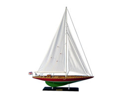 "Handcrafted Model Ships - Endeavour 2 Limited 35"" - Wooden Model Sailboat - Not a model ship kit"