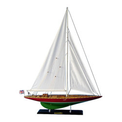 """Handcrafted Model Ships - Endeavour 2 Limited 35"""" - Wooden Model Sailboat - Not a model ship kit"""