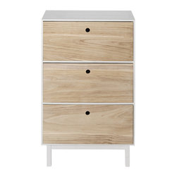 "Imported - Paulownia Wood & White Dresser - Paulownia Wood & White Dresser. Wood Veneer. Measures 25.5"" x 15.7"" x 41.3"".  Imported."