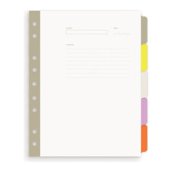 Russell + Hazel - Mini 5-Tab Index Dividers by Russell + Hazel - Acid Free. Five Side Tabs And Three Unique Top Tabs. Durable Laminated Tabs.