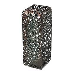 Sterling Industries - Barry-Woven Metal Floor Standing Vase - Barry-Woven Metal Floor Standing Vase