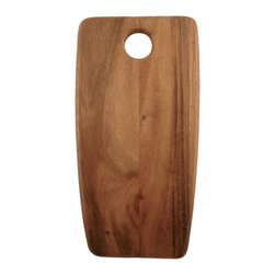 Be Home - Acacia Rectangular Board, Large - Chop to it! You'll be endlessly inspired to create culinary feats with this uniquely shaped cutting board — a cool new component of your eclectic kitchen. The bonus? Its acacia wood is ecologically forested.