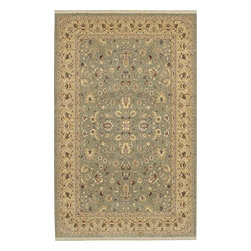 Karastan - Shapura Tiana Sage Oriental 10' x 14' Karastan Rug (16001) - Peshawar' rugs have unique color effects originally achieved by hand spinning especially twisted wool that produced subtle nuances of color when dyed and woven. Designs used are traditional, yet relaxed, with freshened color palettes geared toward today's interiors. Karastan's master designers have re-created this stunning visual texture using meticulously placed nuances of color. The Shapura collection offers the design forward consumer the unique texture that was, until now, not consistently available in a high quality machine woven rug.
