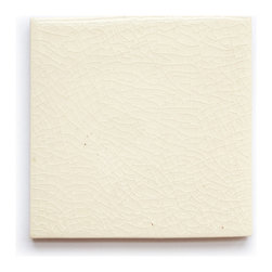 10 White Crackle (Crackle and Glossy Finish) - Handmade Ceramic Tile - Handmade Ceramic Tile