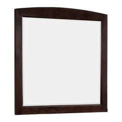 American Imaginations - 30-in. W x 32-in. H Rectangle Wood Framed Mirror Without Shelf - This traditional wood mirror belongs to the exquisite Juliet design series. It features a rectangle shape. This wood mirror is designed to be installed as an wall mount wood mirror. It is constructed with birch wood-veneer. This wood mirror comes with a lacquer-stain finish in Walnut color. Multi layer 7-step stain finish for a smooth feel while increasing the product's quality This Wood Mirror features Stainless Steel hardware. No assembly required.