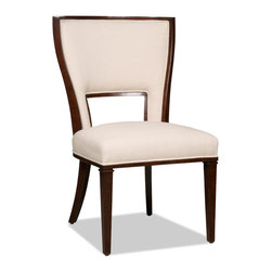 Hooker Furniture - Decorator Chair - Dining Side Chair 38 - Set of 2 - White glove, in-home delivery included!  Fabric: Lindy Natural  Side chair is in a set of two chairs.  Arm chair sold individually.