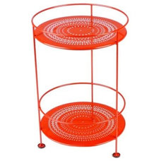 Outdoor Tables Fermob Double Top Small Bistro Side Table with Perforated Top