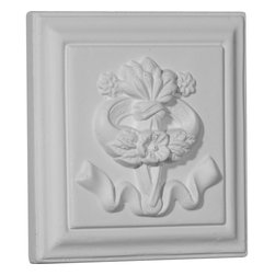 """Ekena Millwork - 4 3/4""""W x 4 3/4""""H x 3/4""""P Versailles Ribbon Rosette - 4 3/4""""W x 4 3/4""""H x 3/4""""P Versailles Ribbon Rosette. Our rosettes are the perfect accent pieces to cabinetry, furniture, fireplace mantels, ceilings, and more. Each pattern is carefully crafted after traditional and historical designs. Each piece comes factory primed and ready for your paint. They can install simply with traditional adhesives and finishing nails."""