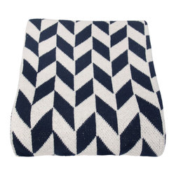 in2green - Eco Chevron Throw, Marine - his geometric pattern will add color and texture to your favorite seat in the house. The two-toned Chevron pattern comes in an assortment of colors and is the perfect weight for any season.