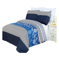 Bed Linens - Lydia Printed Multi-Piece Duvet Set King/California King  4PC Comforter Set - Enjoy the comfort and Softness of 100% Egyptian cotton bedding with 300 Thread count fiber reactive prints.*100% Egyptian cotton *300 Thread count *Reactive Print, lasts longer and looks like real live pictures .